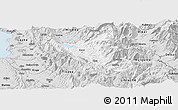Silver Style Panoramic Map of Mat