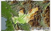 Physical 3D Map of Mirditë, darken