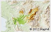 Physical 3D Map of Mirditë, lighten