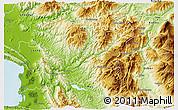 Physical 3D Map of Mirditë