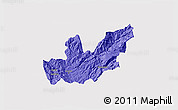 Political 3D Map of Mirditë, cropped outside