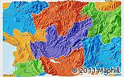 Political 3D Map of Mirditë