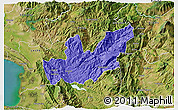 Political 3D Map of Mirditë, satellite outside