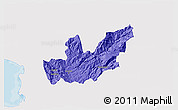 Political 3D Map of Mirditë, single color outside