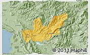 Savanna Style 3D Map of Mirditë