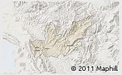 Shaded Relief 3D Map of Mirditë, lighten