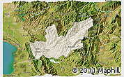 Shaded Relief 3D Map of Mirditë, satellite outside
