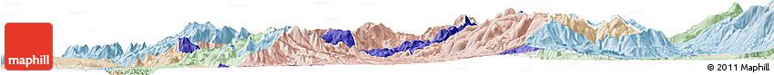 Political Horizon Map of Mirditë, lighten