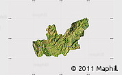 Satellite Map of Mirditë, cropped outside