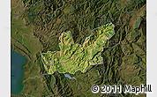 Satellite Map of Mirditë, darken