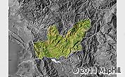 Satellite Map of Mirditë, desaturated
