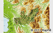 Satellite Map of Mirditë, physical outside
