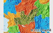 Satellite Map of Mirditë, political outside