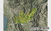 Satellite Map of Mirditë, semi-desaturated