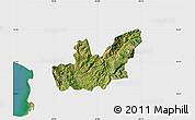 Satellite Map of Mirditë, single color outside