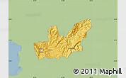 Savanna Style Map of Mirditë, single color outside