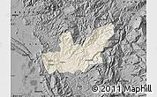 Shaded Relief Map of Mirditë, darken, desaturated