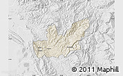 Shaded Relief Map of Mirditë, lighten, desaturated