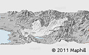 Gray Panoramic Map of Mirditë