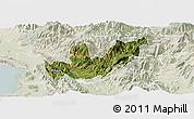 Satellite Panoramic Map of Mirditë, lighten