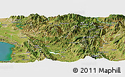 Satellite Panoramic Map of Mirditë