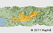 Savanna Style Panoramic Map of Mirditë