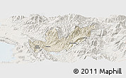 Shaded Relief Panoramic Map of Mirditë, lighten