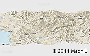 Shaded Relief Panoramic Map of Mirditë