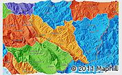 Political 3D Map of Përmet