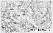 Silver Style 3D Map of Përmet