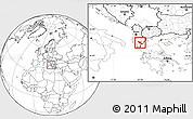 Blank Location Map of Përmet