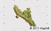 Satellite Map of Përmet, cropped outside