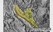 Satellite Map of Përmet, desaturated