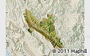 Satellite Map of Përmet, lighten