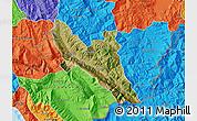 Satellite Map of Përmet, political outside