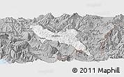 Gray Panoramic Map of Përmet
