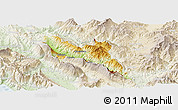 Physical Panoramic Map of Përmet, lighten