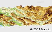 Physical Panoramic Map of Përmet