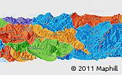 Political Panoramic Map of Përmet