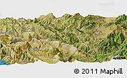 Satellite Panoramic Map of Përmet