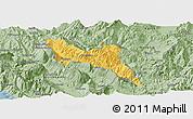 Savanna Style Panoramic Map of Përmet