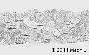 Silver Style Panoramic Map of Përmet