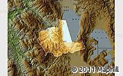 Physical Map of Pogradec, darken