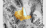 Physical Map of Pogradec, desaturated