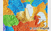 Physical Map of Pogradec, political outside