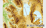Physical Map of Pogradec
