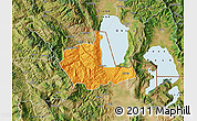 Political Map of Pogradec, satellite outside