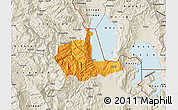 Political Map of Pogradec, shaded relief outside