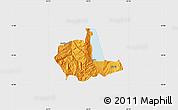 Political Map of Pogradec, single color outside