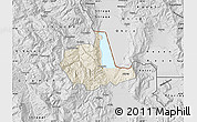 Shaded Relief Map of Pogradec, desaturated